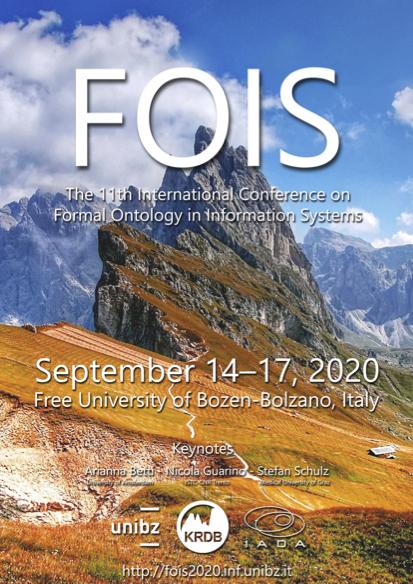 Poster FOIS 2020 - September 14-17, 2020 - Bolzano, Italy